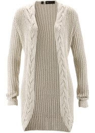 Strickjacke mit Glitzergarn, bpc selection, natur/silber