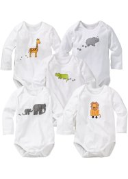 Baby Langarmbody (5er-Pack) Bio-Baumwolle, bpc bonprix collection