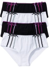 Panty (4er-Pack), bpc bonprix collection, schwarz/weiß