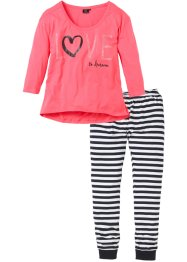 Pyjama, bpc bonprix collection, hellpink gestreift