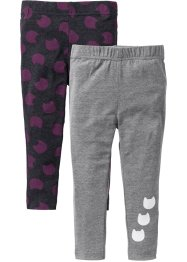Leggings (2er-Pack), bpc bonprix collection, anthrazit meliert+grau meliert