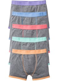 Boxershorts (5er-Pack), bpc bonprix collection, grau meliert/pastell