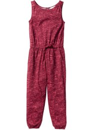 Jumpsuit, bpc bonprix collection, bordeaux/himbeere gemustert