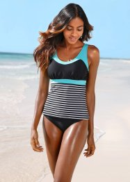 Tankini (2-tlg. Set), bpc bonprix collection, schwarz/weiß gestreift