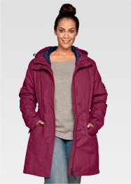 3-in-1-Outdoorjacke, bpc bonprix collection, beere