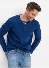 Langarmshirt in 2-in-1-Optik Regular Fit, bpc bonprix collection, enzianblau