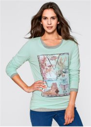Langarmshirt mit Druck, bpc bonprix collection
