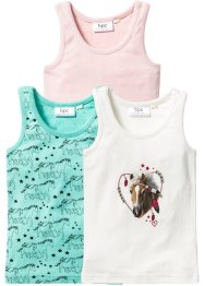 Unterhemd (3er-Pack), bpc bonprix collection, mint/rosa/ecru
