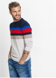 Pullover Slim Fit, RAINBOW, bunt gestreift