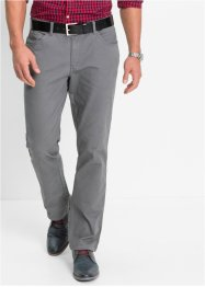 5-Pocket Stretchhose, Slim Fit Straight, bpc bonprix collection, rauchgrau