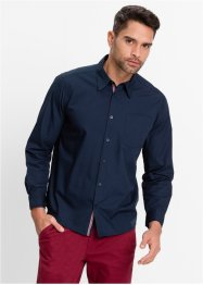 Langarmhemd Regular Fit, bpc bonprix collection, azurblau