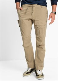 Cargohose Regular Fit Straight, bpc bonprix collection, beige
