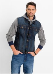 Jeansweste Regular Fit, John Baner JEANSWEAR, dunkelblau used