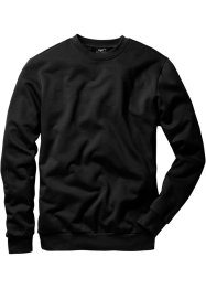 Herren Sweatshirt, Regular Fit, bpc bonprix collection, schwarz