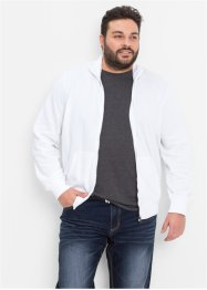 Sweatjacke, Regular Fit, bpc bonprix collection, weiß