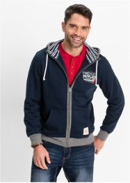 Sweatjacke Regular Fit, John Baner JEANSWEAR, dunkelblau