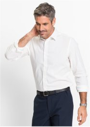 Herren Stretch-Hemd, Slim Fit, bpc selection, weiß
