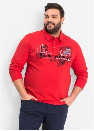 Langarmpoloshirt, bpc bonprix collection, rot