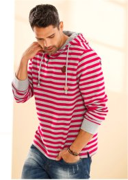 Sweatshirt Slim Fit, RAINBOW, dunkelrot gestreift