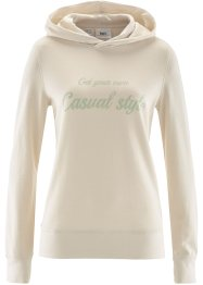 Sweatshirt, bpc bonprix collection, kieselbeige bedruckt