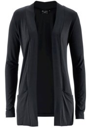 Stretch-Shirtjacke, bpc bonprix collection, schwarz