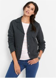 Sweatblazer, bpc bonprix collection, anthrazit meliert