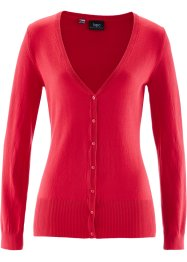 Basic Feinstrick-Jacke, bpc bonprix collection, rot