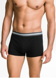 Boxer Bio-Baumwolle (3er-Pack), bpc bonprix collection, schwarz