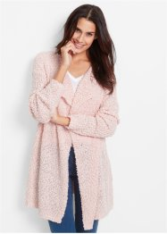 Long-Strickjacke, bpc bonprix collection, perlrosa