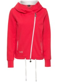 Langarm-Sweatjacke, bpc bonprix collection, rot