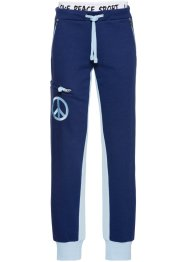 Jogginghose, bpc bonprix collection, mitternachtsblau/hellblau