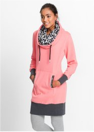 Langarm-Sweatkleid, bpc bonprix collection, neonlachs
