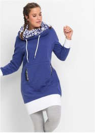 Langarm-Sweatkleid, bpc bonprix collection, mitternachtsblau