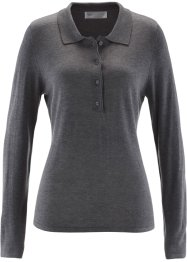 Polo-Pullover, bpc selection, grau meliert