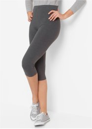 Stretch-Caprileggings, bpc bonprix collection, anthrazit meliert+schwarz