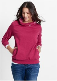 Sweatshirt, bpc bonprix collection, beerenrot