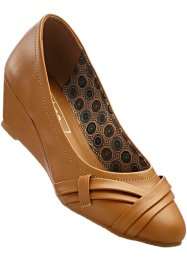 Keilpumps in 2 weiten, bpc bonprix collection, camel
