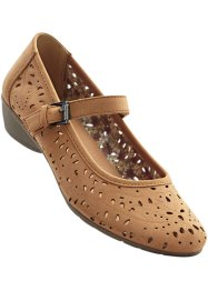 Spangenpumps, bpc bonprix collection, camel/sand