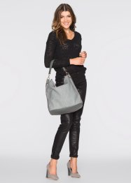 Shopper Animal Optik, bpc bonprix collection, grau