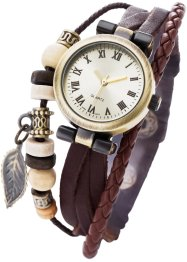 Leder-Armbanduhr Toska, bpc bonprix collection