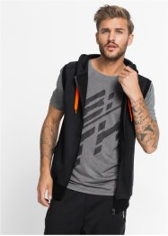 Funktions-Sweatweste Slim Fit, RAINBOW, schwarz