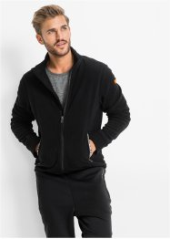 Mikrofleece-Jacke Slim Fit, RAINBOW, schwarz