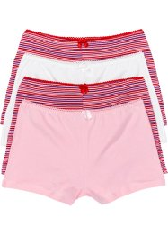 Maxifrench (4er-Pack), bpc bonprix collection, rosa/wollweiß/rot gestreift