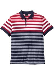 Streifenpoloshirt Regular Fit, bpc selection, rot/weiß/dunkelblau gestreift