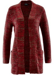 Strickjacke, bpc bonprix collection, rot meliert