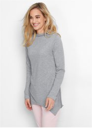 Sweatshirt mit Zipfeln, bpc bonprix collection, hellgrau meliert
