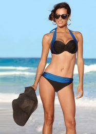 Bügel Bikini (2-tlg. Set), bpc selection, schwarz/blau