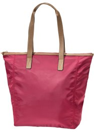 Shopper mit Lederimitat, bpc bonprix collection, bordeaux