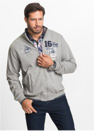 Sweatjacke mit Stehkragen Regular Fit, bpc selection, türkis