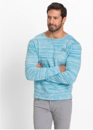 Pullover Regular Fit, bpc selection, anthrazit/wollweiß meliert